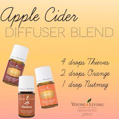 Smells like fall! Great diffuser blend for your Young Living Essential Oils ☕️ Autumn is my favorite!!