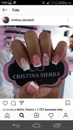 Hot Nails, Hair And Nails, Sophisticated Nails, Nail Polish Storage, Baby Nails, Diamond Nails, Classy Nails, Nail Decorations, Nail Inspo