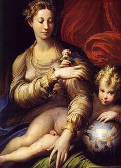 """Francesco Mazzola, """"Il Parmigianino"""": Madonna della rosa."""