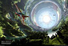 New Eden by kromekat Cinema Science Fiction Landscape Artwork, Fantasy Landscape, 3d Landscape, Fantasy World, Fantasy Art, Art Science Fiction, Pulp Fiction, Sci Fi Kunst, Space Colony