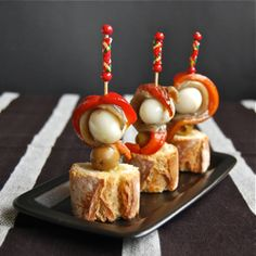 Traditional Spanish Tapas Pinchos and Montaditos,