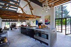 Inspiring Barn Conversion in Burgundy by Josephine Interior Design.