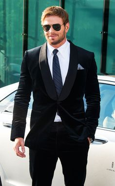 Possibility for Steve Trevor. Dapper as ever, Kellan Lutz knows how to rock a suit and tie!