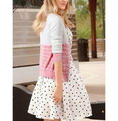 Taylor Swift same paragraph pink stripes sweatshirt for girls autumn wear