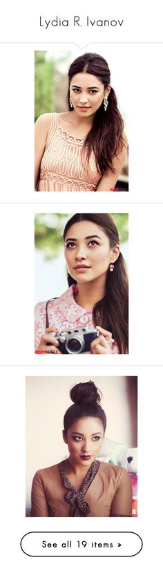 """""""Lydia R. Ivanov"""" by yourmyaddiction ❤ liked on Polyvore featuring shay mitchell, people, photos, hair, celebs, models, pictures, celebrities, accessories and hair accessories"""