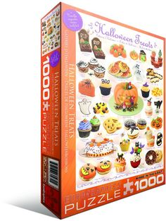 BOO-RRIFIC...Halloween Treats 1000 piece jigsaw puzzle from EuroGraphics.