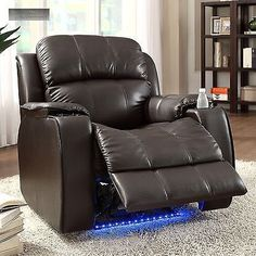 power massager recliner cup holder electric with neon lights lazy boy chair reclining - Lazy Boy Lift Chairs