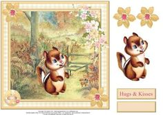 Charlie the chipmunk card topper decoupage on Craftsuprint - View Now!