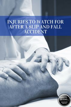 #LegalTips - The injury that you suffer in a slip and fall accident can only be diagnosed by a doctor. In order to protect your physical—and your legal—recovery, it is important to see a physician as soon as possible after you fall and to tell your doctor about all of your symptoms. Your doctor can then create a treatment plan to help you recover from your injuries and a medical record that will help you prove those injuries during settlement negotiations or in court. Learn more!