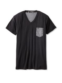 66% OFF Paul Black Men\'s V-Neck Tee with Contrast Back (Black)