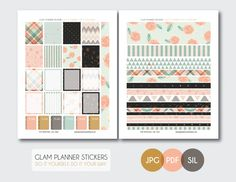 Free Monthly Printable Planner Stickers Set - Shabby Chic - Erin Condren