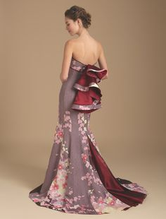 和の趣きにうっとり…アンティーク振袖を使用した麗しの着物ドレス「祥縁(SHOEN)」がステキ | ファッション 着物・和服 - Japaaan
