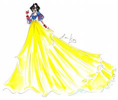 High Fashion Illustrations of Disney Characters