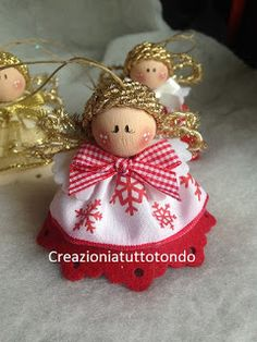 Christmas Fairy, Christmas Bells, Christmas Ornaments, Christmas Projects, Holiday Crafts, Diy Angels, Angel Decor, Felt Christmas Decorations, Angel Crafts