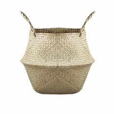 $7.42 for the large. New Household Foldable Natural Seagrass Woven Storage Pot Garden Flower Vase Hanging Basket With Handle Storage Bellied Basket-in Storage Baskets from Home & Garden on Aliexpress.com | Alibaba Group