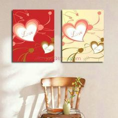 Hand Painted Abstract Heart Oil Painting