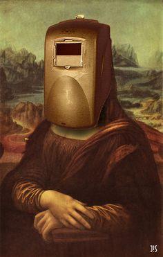 Joconde Mona Lisa va souder un truc