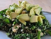 Supergreens Salad With Creamy Avocado & Tahini Dressing