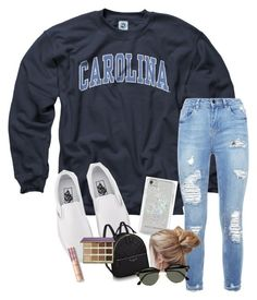"""campus chill"" by haleyliiz ❤ liked on Polyvore featuring Vans, Rebecca Minkoff, tarte and Ray-Ban"