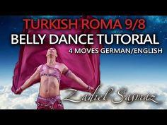 Turkish Roma Belly Dance Tutorial 4 Moves! 9/8 rhythm Roman Havasi (Deutsch/English) | Bauchtanz - YouTube