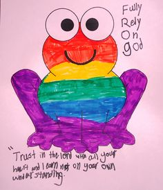 3rd Grade Sunday School: Student Artwork: FROG (Fully Rely On God)