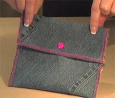 Free Bag and Purse Patterns: Jeans Purse