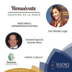 HOY Martes 11am RENUEVATE COACHING EN LA RADIO...estamos online por la aplicación Tune In desde tu celular o por http://ift.tt/1Abi79t o por http://ift.tt/1F8bzd1.  Marbel Lugo hoy con un tema especial para emprendedores con el Lic. Orlando Perez No te lo pierdas! Puedes escuchar los programas anteriores en ivoox-> podcasts-> renuevate coaching en la radio.  Síguenos en las redes: Instagram/Facebook- Renuevate Coaching en la Radio Twitter- Renuevatedo