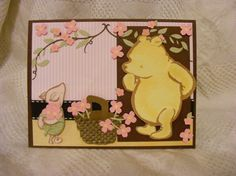 Using the new Classic Pooh scrapbook paper