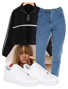 """"""":0"""" by sselii ❤ liked on Polyvore featuring Lirika Matoshi, Wrangler and NIKE"""