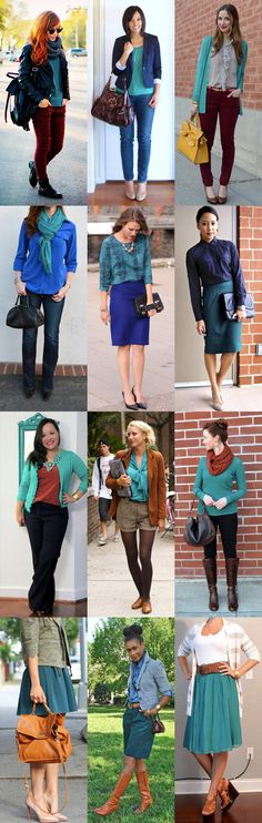 12 ways to wear teal via @Go Chic or Go Home such a beautiful fall color!