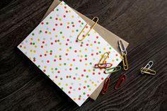 Confetti - Oh Happy Day - Letterpress Card