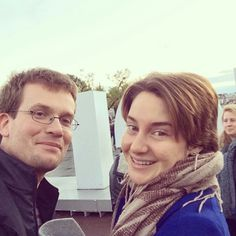 John Green and Shailene Woodley tfios