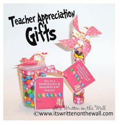 Freebies 51 Teacher Appreciation Notes/Cards-Different sizes and designsm to perfectly match the gift you've purchased