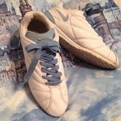 White/Blue Leather Nike Women'S Size 10 Lowest