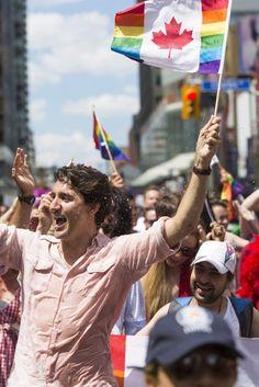 Prime Minister Justin Trudeau Marches In Toronto Pride Parade