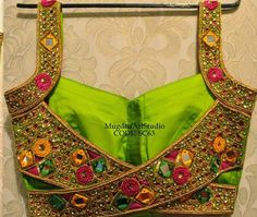 Mirror Work Blouse by Mugdhaarts