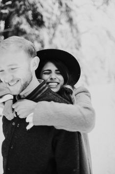 We don't share many engagement shoots, but we had to show you Ryan and Kiana's snowy winter engagement session with Alyssa Wilcox Photography