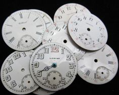 Vintage Antique Watch Dials Steampunk Faces by amystevensoriginals