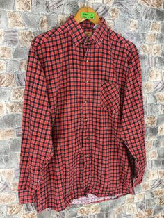 Excited to share this item from my #etsy shop: Vintage 90s Flannel Shirt Medium Retro Oxford Grunge Red/Black Tartan Checkered Gingham Minimalist Unisex Flannel Button Up #womenflannelshirt #retroflannel #bohoflannel #90sgrungeflannel #oversizedflannel #menflannelshirt #brideflannel #boyfriendshirt #mediumplaidflannel