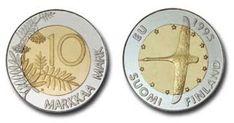 "EU juhlaraha "" joutsen kymppi "" 1995 World Coins, Finland, Decorative Plates, Old Things, Money, Personalized Items, Retro, Coins, Silver"