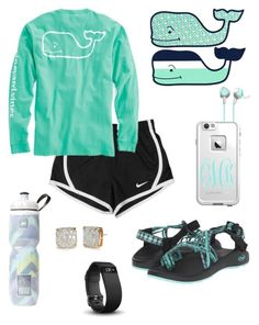 """Vineyard Vines"" by thepreppy-equestrian ❤ liked on Polyvore featuring Chaco, NIKE, Vineyard Vines, LifeProof, Fitbit, Victoria's Secret and Kate Spade"
