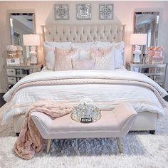 Glamourous Bedroom, Room Inspiration Bedroom, Bedroom Makeover, Gorgeous Bedrooms, Luxurious Bedrooms, Stylish Bedroom, Small Room Bedroom, Room Decor Bedroom, Bedroom Decor