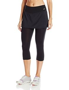 New Balance Womens Stretch Woven 2in1 Skapri Black Small * You can find out more details at the link of the image. (Note:Amazon affiliate link) #PantsCapris