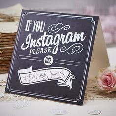 Vintage Affair If You Instagram Wedding Table Signs. Ideas for a DIY wedding. From Wedding favours to DIY wedding decorations, wedding photo booth props, tableware and more. Save money with DIY wedding decorations.