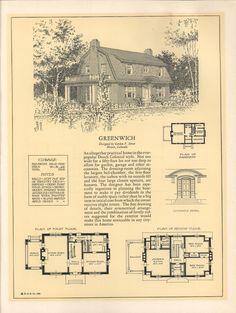 1920s vintage home plans dutch colonial revival the