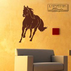 Elegant Wandtattoo Pferd im Galopp galoppierend WE von Lunatik u Gestaltungs und Geschenkideen auf DaWanda