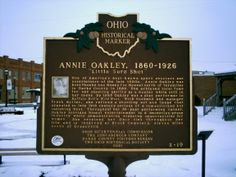 Greenville, OH (Darke County) - Ohio Historical Marker #2 - 19 at the Annie Oakley Memorial Park.