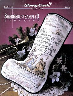 """Beautiful stockings without names on them - """"Shepherd's Sampler"""" ($4.04 for pattern from 123stitch)"""