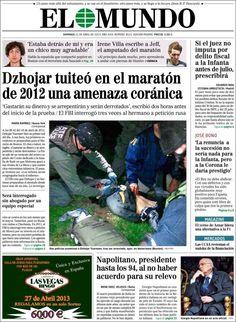 Los Titulares y Portadas de Noticias Destacadas Españolas del 21 de Abril de 2013 del Diario El Mundo ¿Que le parecio esta Portada de este Diario Español?