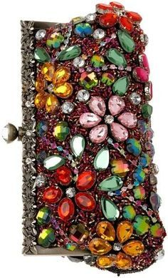 Jeweled Clutch im all about tge bling Beaded Purses, Beaded Bags, Embellished Purses, Vintage Purses, Vintage Hats, Cute Purses, Beautiful Bags, Clutch Purse, Evening Bags